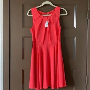 Express Pink fit and flare dress / size 8